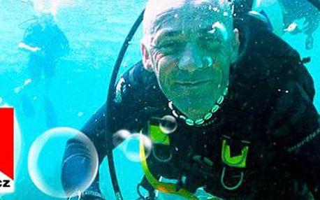 Poznávací ponor ve vodní nádrži Barbora na Krušnohorsku. Zážitek na celý život!