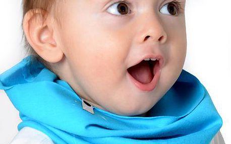 Chlapecký komínový šál/šátek -tyrkysový