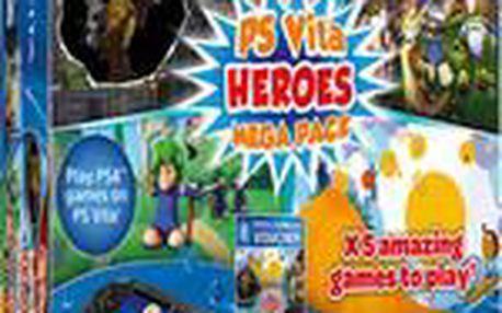 Konzole PlayStation Vita + MEGA PACK Heroes + 8 GB karta (PSVITA)