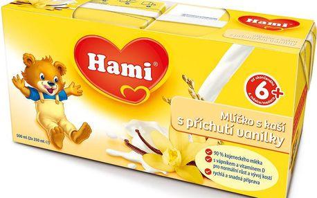 Hami mlíčko s kaší s příchutí vanilky 500ml