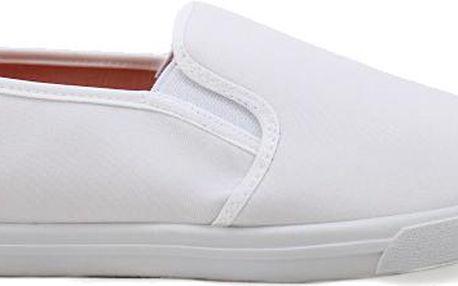 Bílé plátěné tenisky SLIP ON B703W Velikost: 38