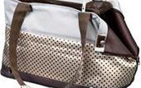 Trixie Cestovní taška MARILLA hnědo/béžová s puntíky 18x21x45 cm
