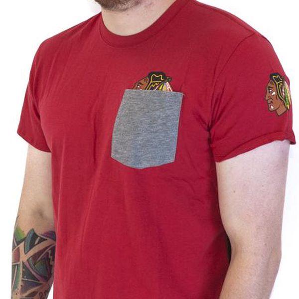 Triko 47 Brand Sneak Tip Chicago Blackhawks Red červená / šedá L