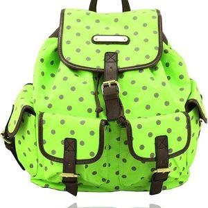 Batoh Anna Smith A7082YD Green Polka Dot