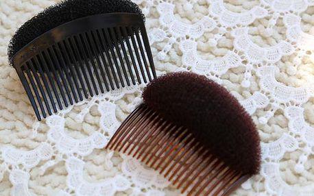 Hřebínek s pěnovou podložkou pro objem účesu ve 3 barvách