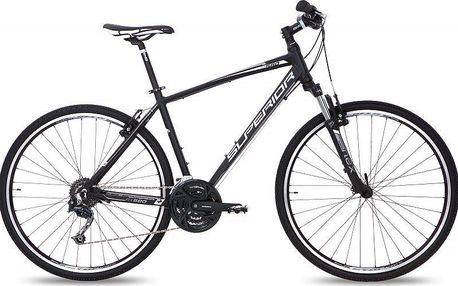 """Trekingové kolo pro víkendové vyjížďky SUPERIOR RX 580 black/silver 16,5"""" (42cm)"""