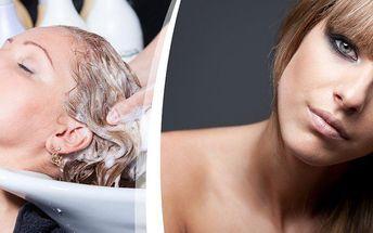 Mytí, regenerace, střih, foukaná, finální styling v Prima Studiu, pro jakoukoliv délku vlasů.