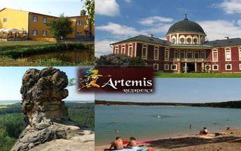 MĚLNICKO Rezidence Artemis*** 4 dny pro 2 s polopenzí. Poblíž Kokořínsko, historická města, koupání
