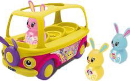 TOMY Edukativní autobus s králíčky