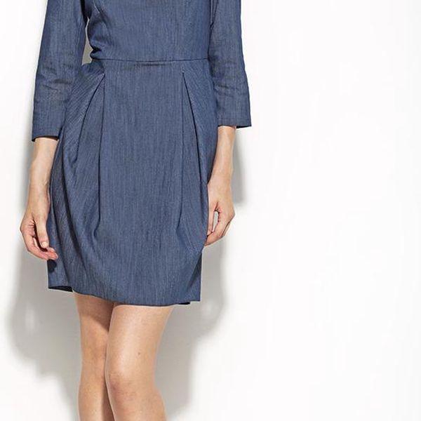 Dámské denní šaty Nife 32742 - modrá barva, velikost 40