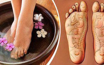 Mokrá pedikúra exclusiv + reflexní masáž plosek nohou