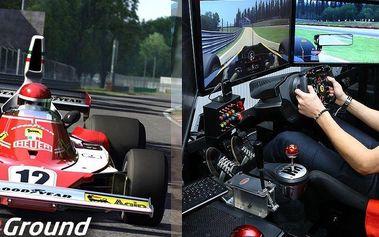 Závodění na automobilových simulátorech v Praze 6! Stejný software, trénuje i jezdce Formule 1!