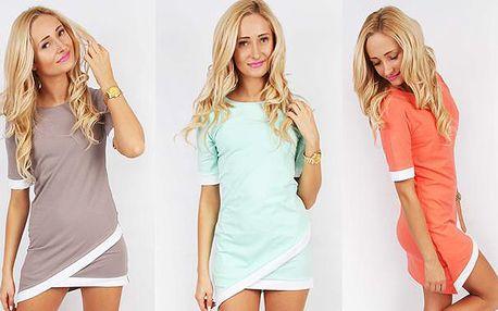 Asymetrické letní šaty ve svěžích barvách
