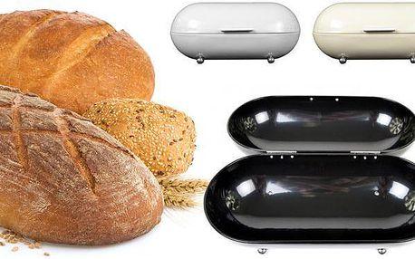 Retro chlebník na pečivo ve 3 barvách