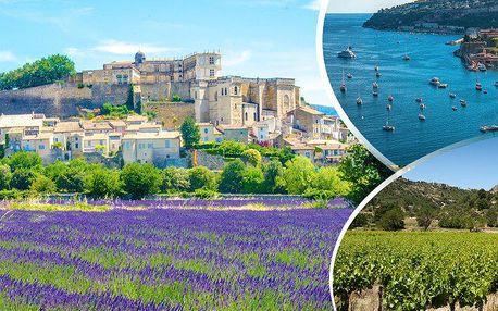 Francie - slunná Provence krajina naplněná sluncem a mnoha vůněmi. Prodloužený víkend s ubytováním!