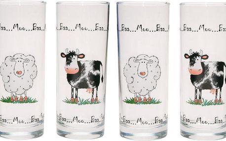 Sada 4 skleniček Home Farm, 350 ml