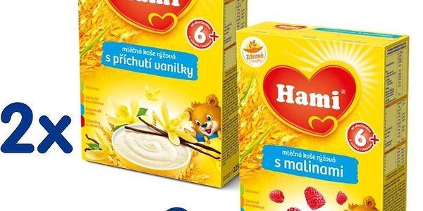 2x mléčná kaše vanilka 225g + 2x mléčná kaše malina 225g