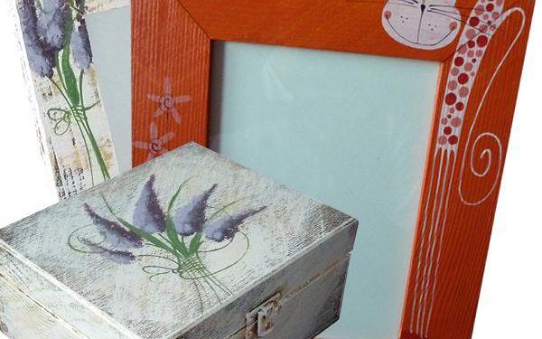 Originální DŘEVĚNÉ DEKORACE! Ručně vyráběné fotorámečky, krabičky, hodiny i originální dárky pro radost!