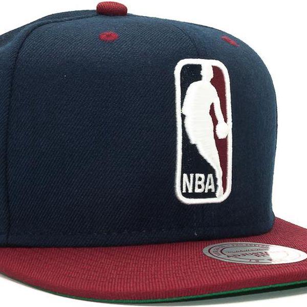 Kšiltovka Mitchell & Ness NBA Logo 2 Tone Navy/Maroon Snapback