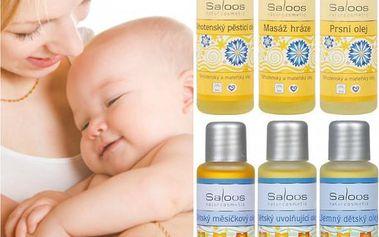 Pěsticí mateřské a dětské oleje Saloos!