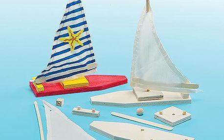 Sada k výrobě dřevěných loděk