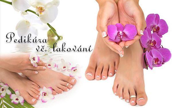 Vše pro krásu vašich nohou: KOMPLETNÍ PEDIKÚRA včetně voňavé lázně, lakování a masáže výživným krémem!