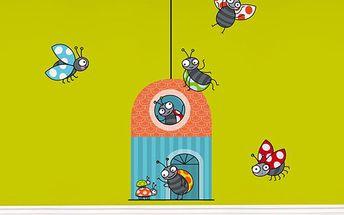 Samolepící dekorace - Domeček berušek