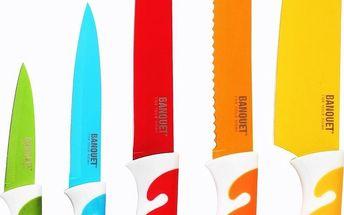 Banquet SYMBIO NEW Colour 5dílná sada nožů