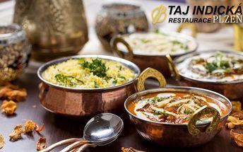 Pravá INDICKÁ restaurace TAJ v centru Plzně! Skvělá 40% sleva na veškerá jídla podle vašeho výběru!