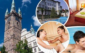 Wellness pro 2 osoby na 3, 4 dny a nebo týden ve Wellness hotelu Central*** Klatovy s polopenzí!!