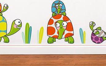 Samolepící dekorace - Želví rodinka
