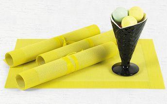 Prostírání žluté 40 x 30 cm, sada 4 ks Autronic