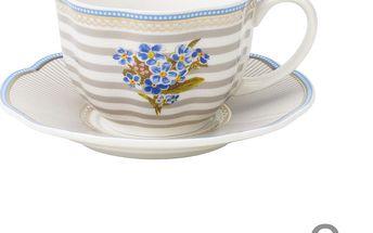Porcelánový šálek s podšálkem Beach od Lisbeth Dahl, 2 ks