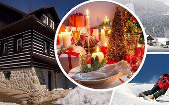 Vánoční pobyt v penzionu Chata pod lipami pro dva. Sváteční menu, cukroví a uzený pstruh k tomu!!