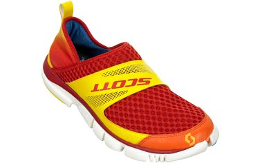 Super lehké a pohodlné boty vhodné pro volný čas ERide Renew orange, oranžová