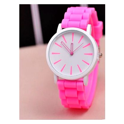 Jednoduché silikonové hodinky v pastelových barvách