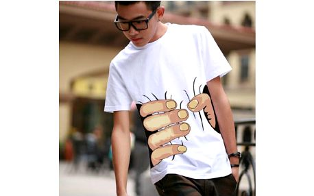 Pánské komiksové tričko Big hand!