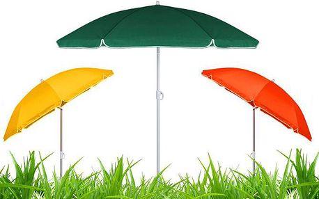 Skládací slunečník s funkcí naklopení ve 3 barevných provedeních