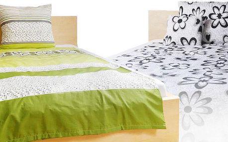 Povlečení na manželskou postel v různých barevných provedeních ze 100% bavlny