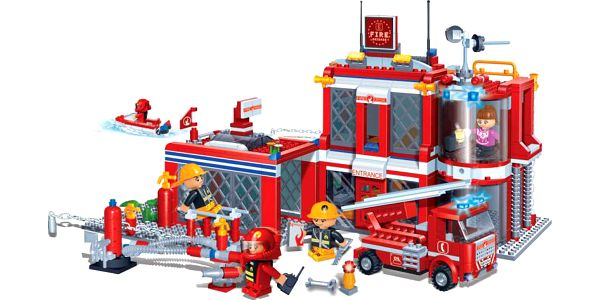 BanBao Stavebnice Fire hasičská stanice