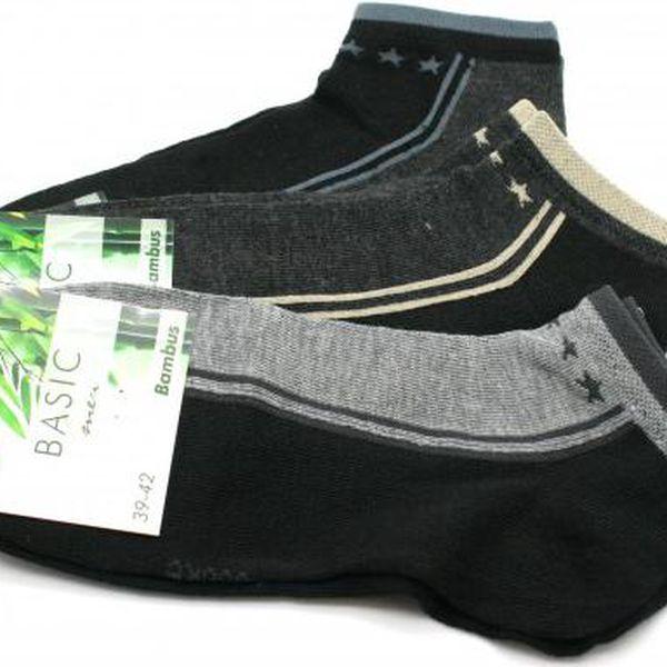 Pánské bambusové kotníkové ponožky 3 páry!