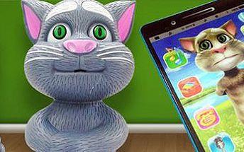 Mluvící kocour Talking Tom: postavička nebo 3D tablet. Skvělá hračka pro děti.