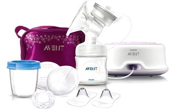 AVENT Odsávačka mateřského mléka Philips Natural elektrická + taška