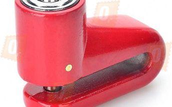 Ocelový zámek kotoučové brzdy – červený