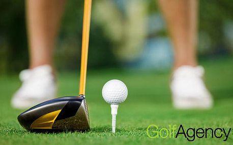 GOLFOVÝ KURZ all inclusive PRO DVA! Certifikát a zisk HCP 54, s trenérem PGA v Poděbradech!