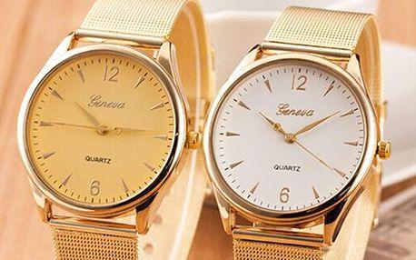 Dámské kulaté hodinky Geneva, poštovné zdarma