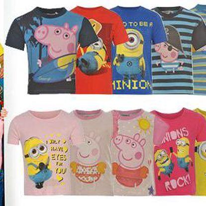 Dětská trička zn.Character s motivy oblíbených Minions