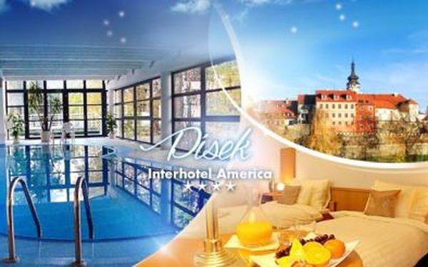 PÍSEK, Interhotel America**** na 3 nebo 5 dní pro DVA se SNÍDANĚMI, VEČEŘÍ a neomezeným WELLNESS a SAUNOU!