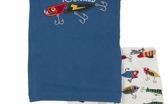 Chlapecké letní pyžamko, modro-bílé
