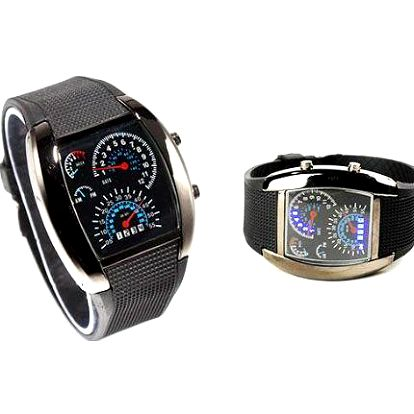 Moderní hit: Binární pánské sportovní LED hodinky